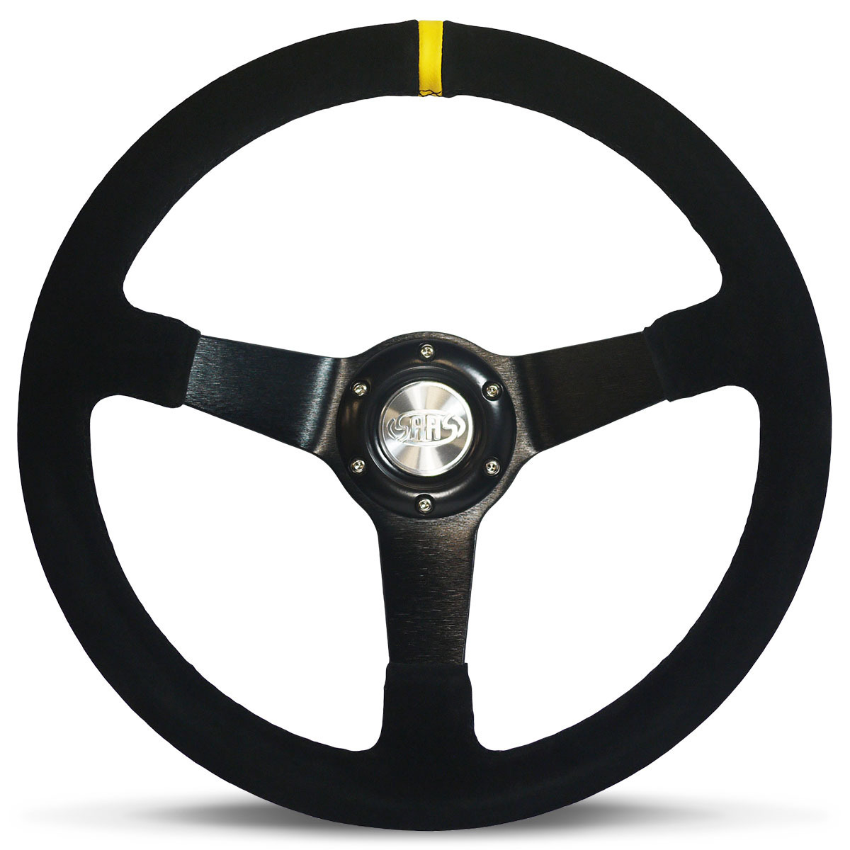 "Steering Wheel Suede 14"" ADR Drifter Black Spoke"