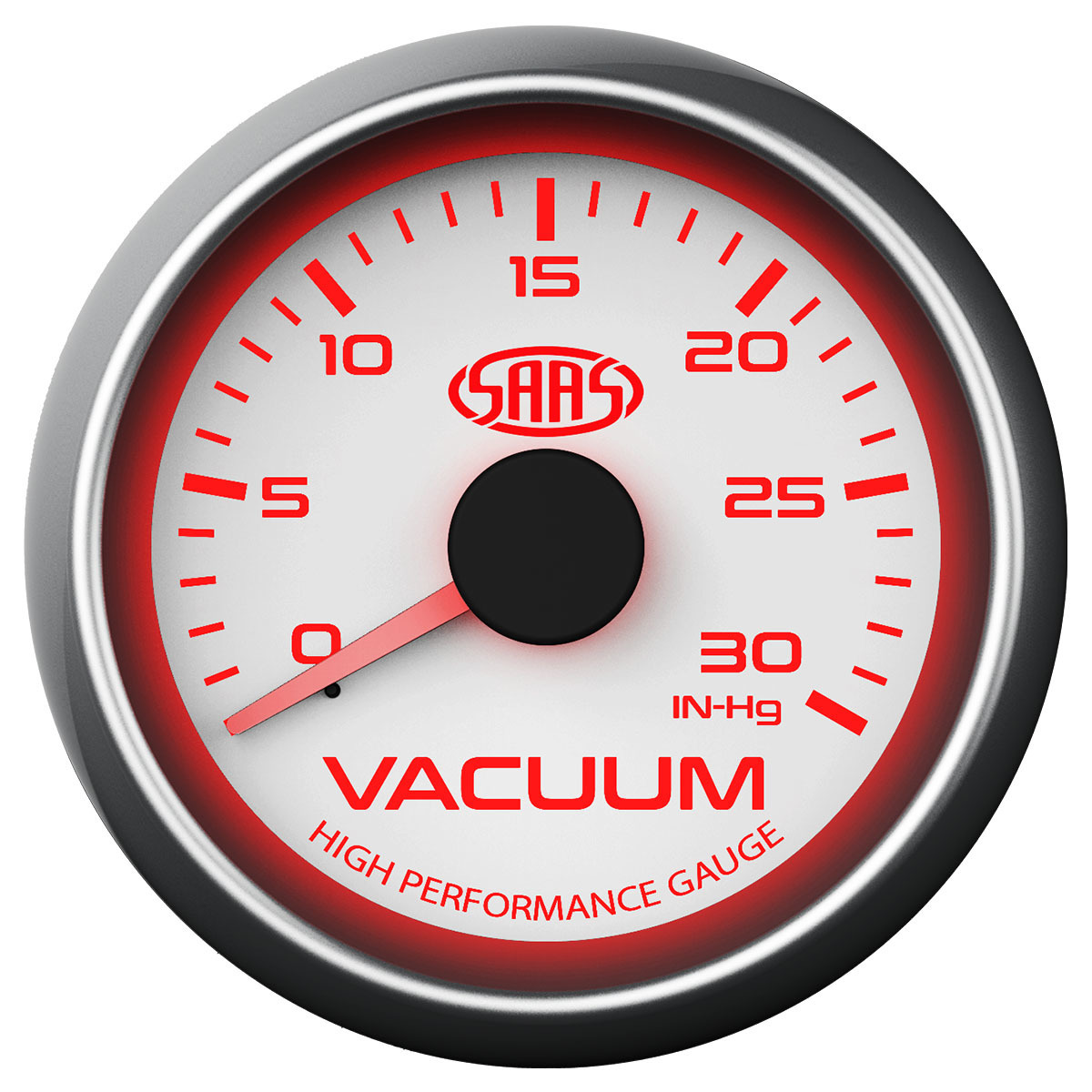 Vacuum Gauge 0-30inHg 52mm White Muscle Series