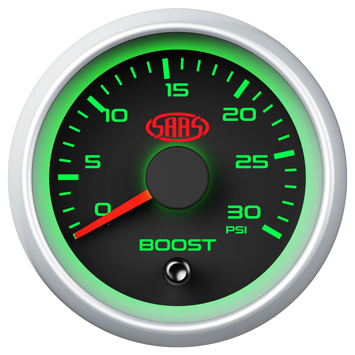 Boost Gauge Diesel 0-30 psi 52mm Black Muscle Series 2