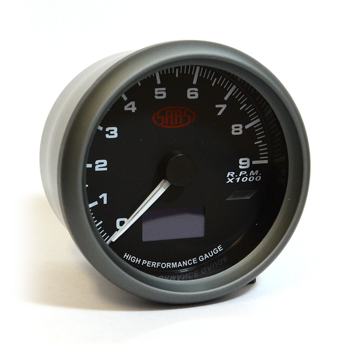 "Tachometer 0-9K Shiftlite 3 1/2"" 89mm In Dash Black Muscle Series"