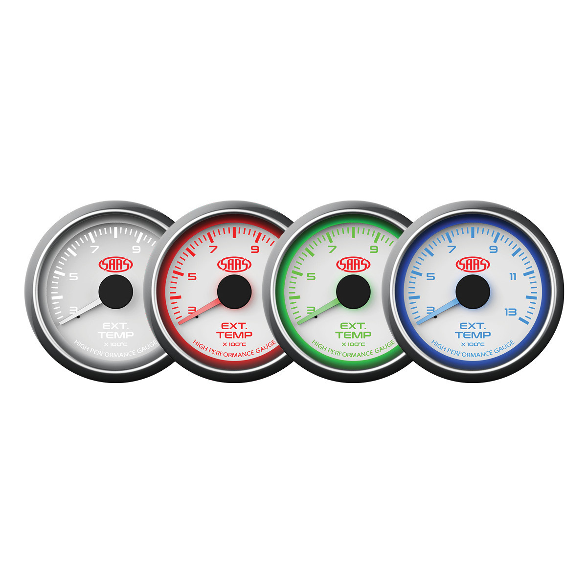 Exhaust Temp Gauge 300°-1300° 52mm White Muscle Series