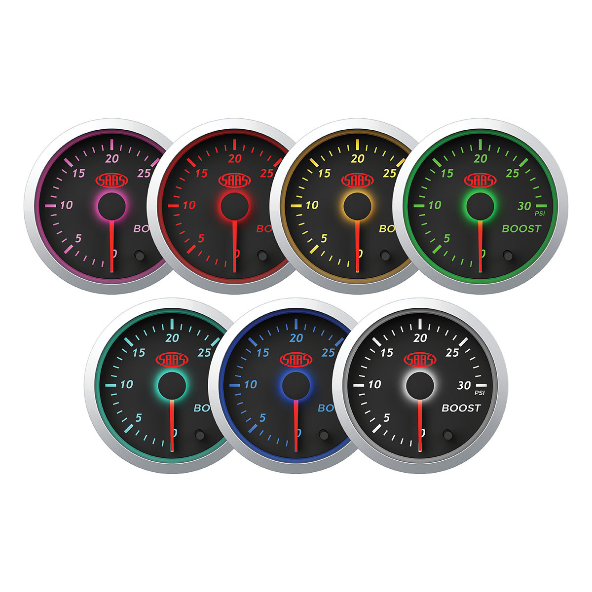 Boost Gauge Diesel 0-30 psi 52mm Black Street Series