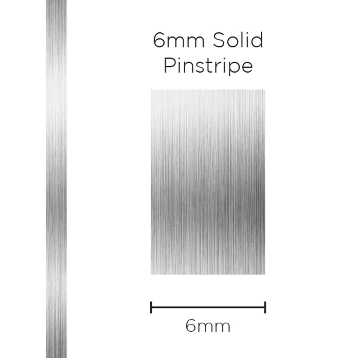 Pinstripe Solid Silver 6mm x 10mt