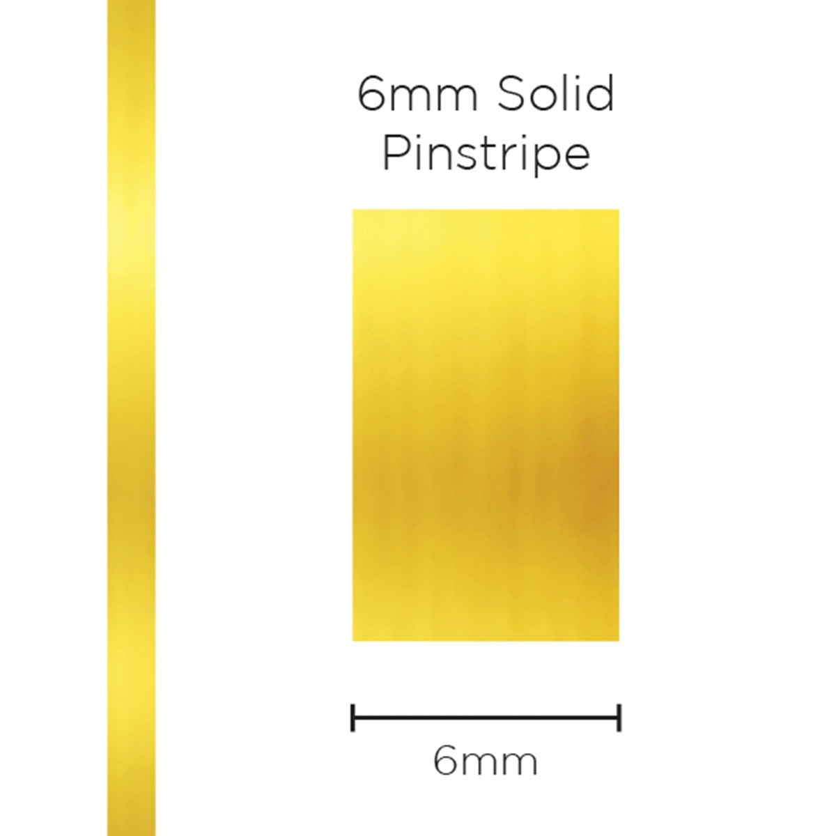 Pinstripe Solid Gold Mylar 6mm x 10mt