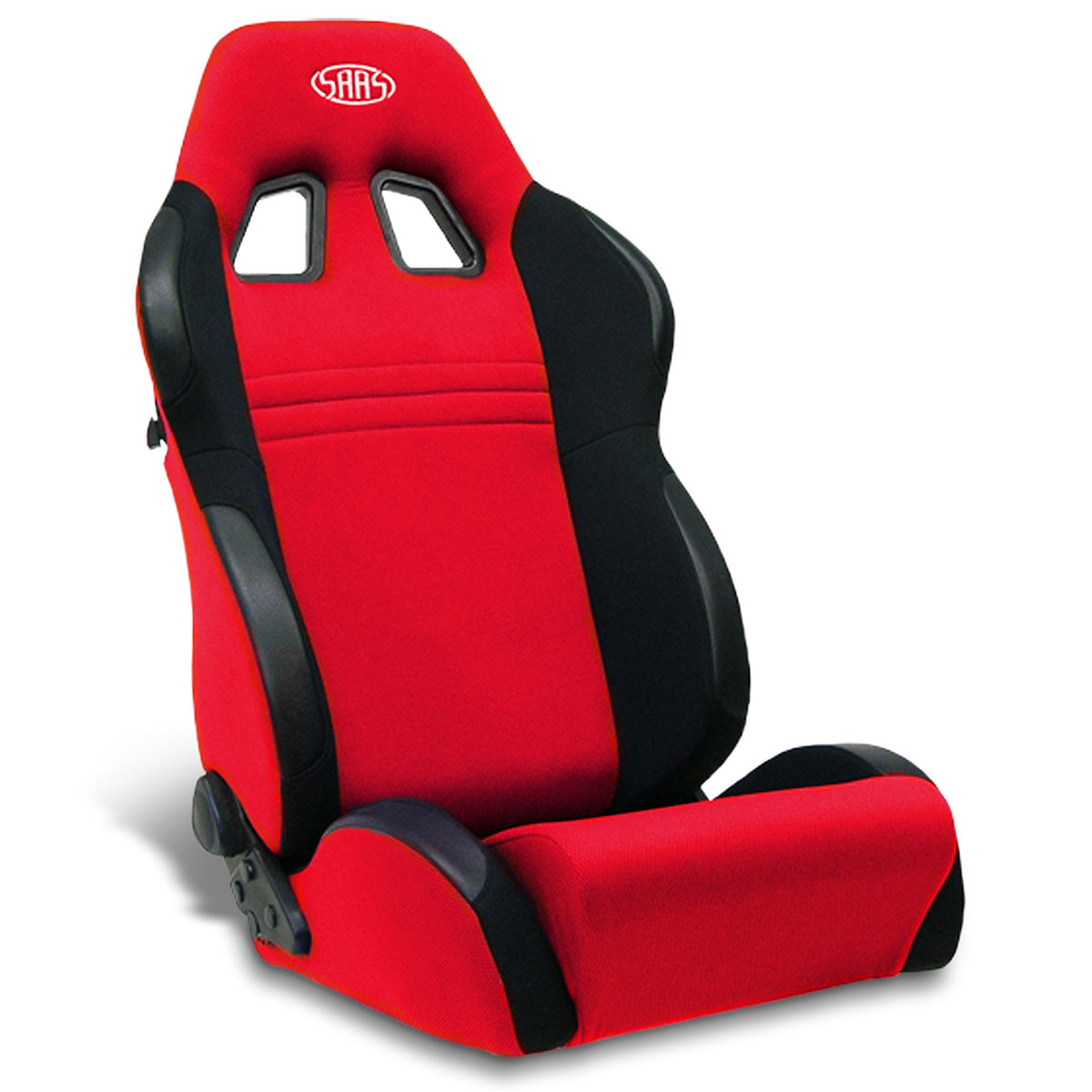 SAAS Vortek Seat Dual Recline Black/Red ADR Compliant