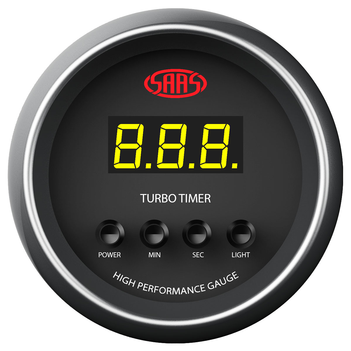 Turbo Timer Digital Auto 52mm Black Muscle Series