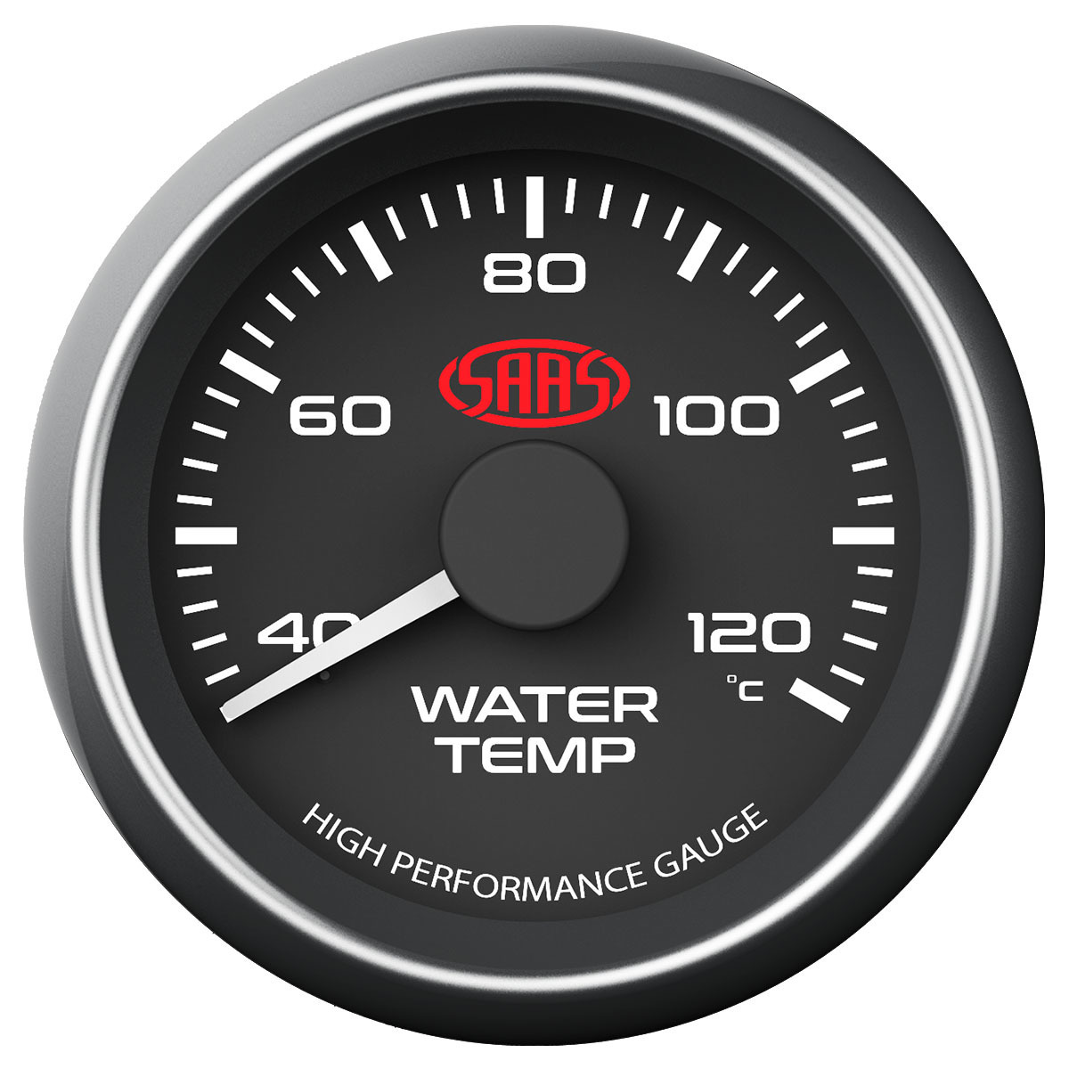 Water Temp Gauge 40°-120° 52mm Black Muscle Series