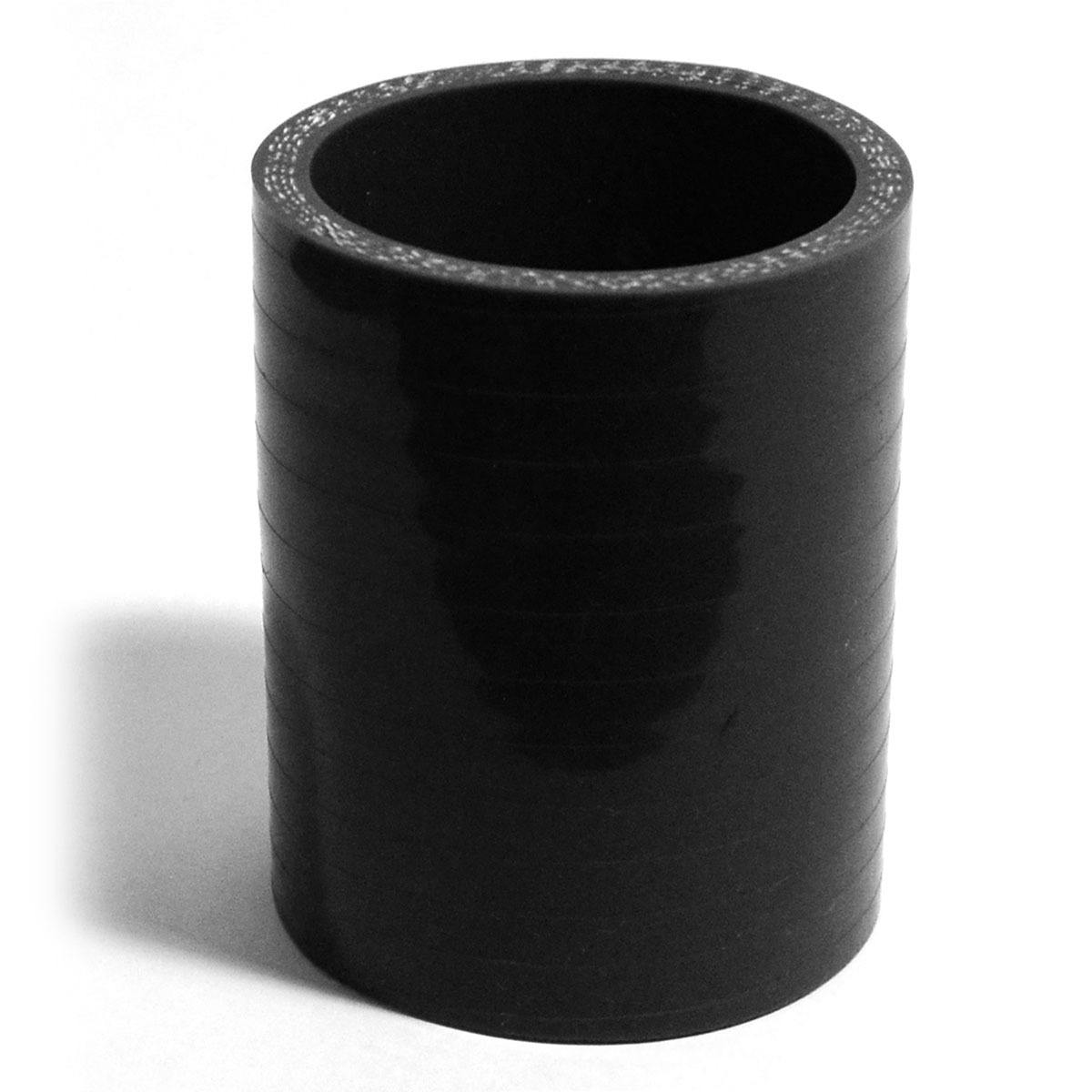 Straight 4 Ply Silicone Hose 45mm x 45mm x 76mm Black