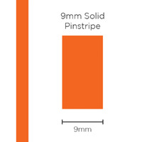 Pinstripe Solid Orange 9mm x 10mt