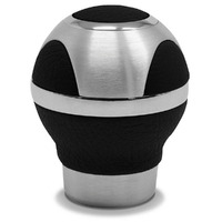 Leather Ball Gear Knob Black- Alloy Insert