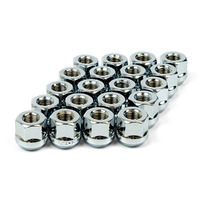Wheel Nut Bulge Open End 12 X 1.25 Chrome