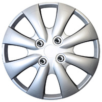 "Star 15"" Silver Wheel Cover Set"