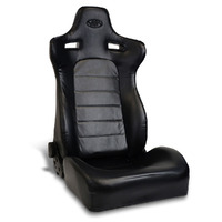 SAAS Blade Seat Dual Recline Black PU Leather ADR Compliant