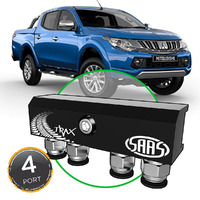 Diff Breather Kit 4 Port incl Nylon Bushes MITSUBISHI TRITON MQ 2015>