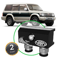 Diff Breather Kit 2 Port incl Nylon Bushes MITSUBISHI PAJERO NH-NL 1991-1999