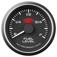 Fuel Level Gauge 52mm Black Muscle Series