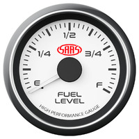 Fuel Level Gauge 52mm White Muscle Series