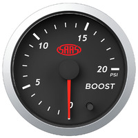 Boost Gauge Diesel 0-20 psi 52mm Black Street Series