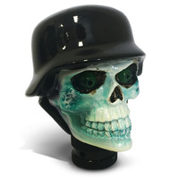 Skull Gear Knob with Helmet White