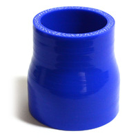 Straight 4 Ply Silicone Reducer 51mm x 63mm x 76mm Blue