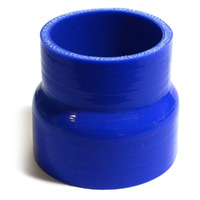 Straight 4 Ply Silicone Reducer 63mm x 70mm x 76mm Blue