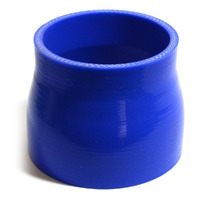 Straight 4 Ply Silicone Reducer 76mm x 89mm x 76mm Blue