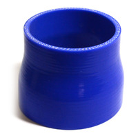Straight 4 Ply Silicone Reducer 82mm x 89mm x 76mm Blue