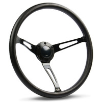 "Steering Wheel Poly 15"" Classic DD Black Alloy Slots"