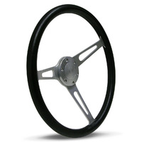 "Steering Wheel Poly 15"" Classic Brushed Alloy Slotted"