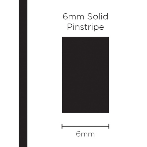 Pinstripe Solid Black 6mm x 10mt