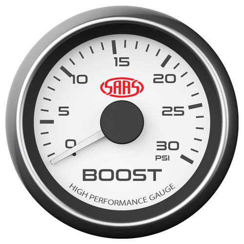 Boost Gauge Diesel 0-30 psi 52mm White Muscle Series