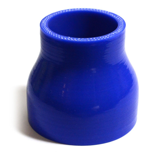 Straight 4 Ply Silicone Reducer 51mm x 70mm x 76mm Blue