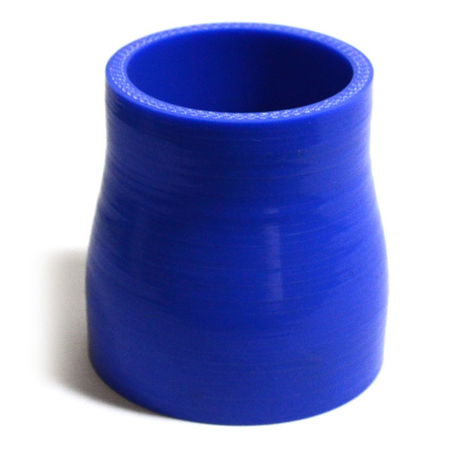 Straight 4 Ply Silicone Reducer 57mm x 76mm x 76mm Blue